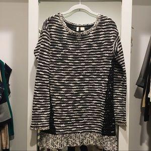 Anthropologie knit sweater, black white